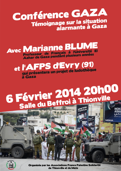 Affiche Conférence Marianne BLUME AFPS 06-02-2014